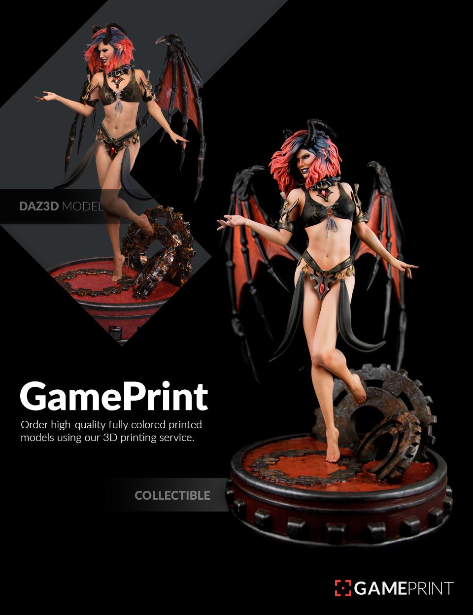 GamePrint: 3D Print Plugin by: Mixed Dimensions, 3D Models by Daz 3D