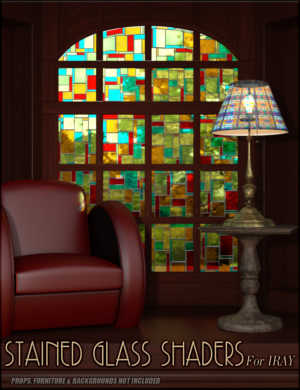Stained Glass Iray Shaders by: vyktohria, 3D Models by Daz 3D