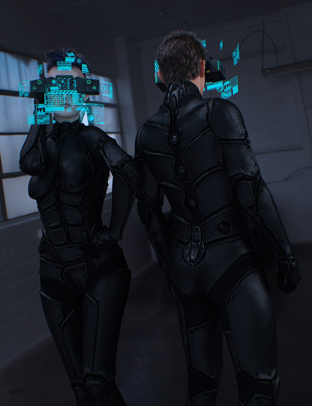 Sci-Fi Head Gear for Genesis 3 by: , 3D Models by Daz 3D