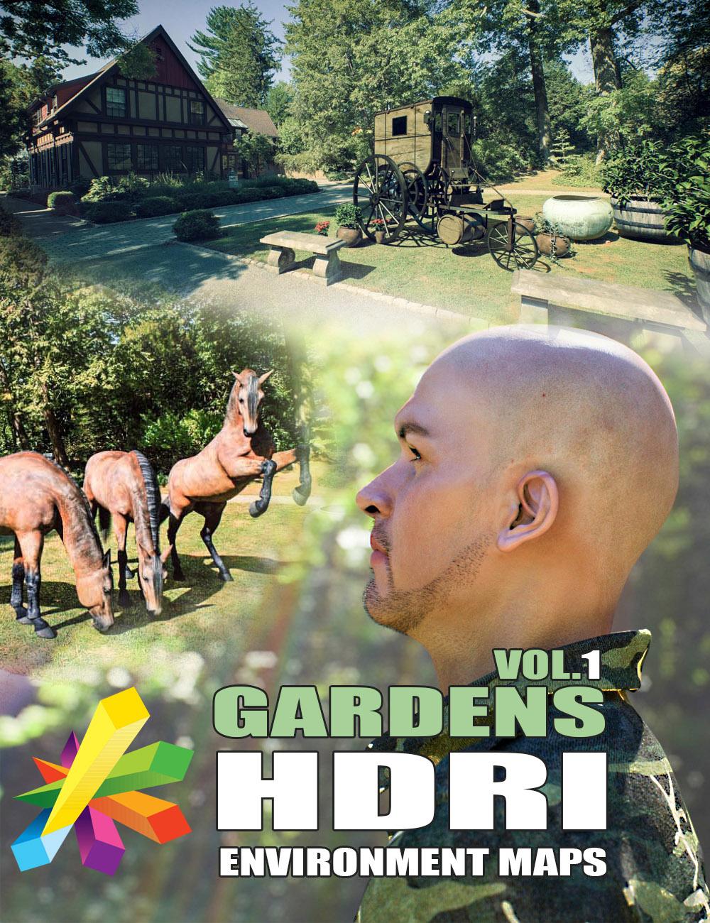 MEC4D HDRI Gardens Vol.1 - Megapack by: Mec4D, 3D Models by Daz 3D