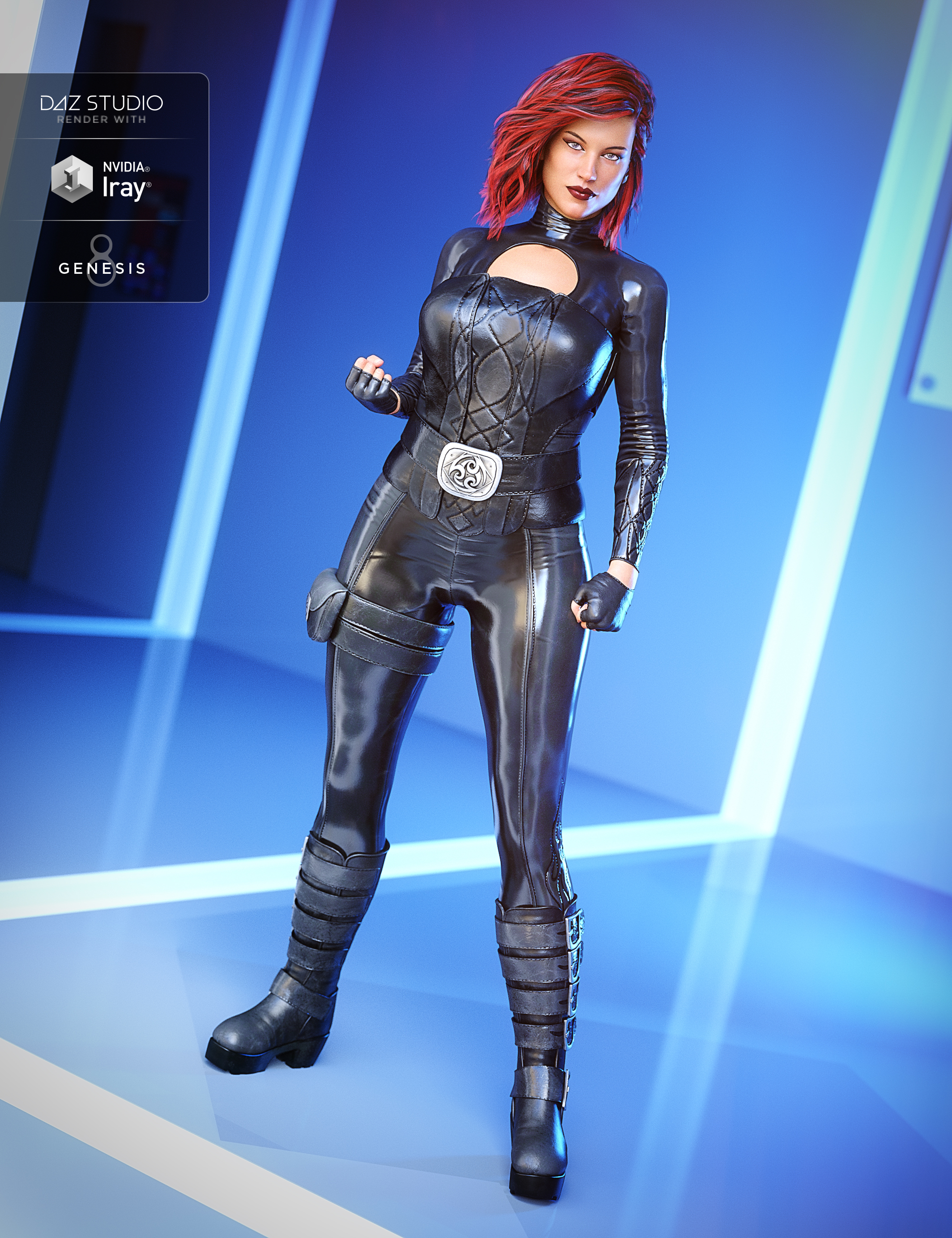 Lethal Rogue Outfit for Genesis 8 Female(s) by: DemianYura, 3D Models by Daz 3D