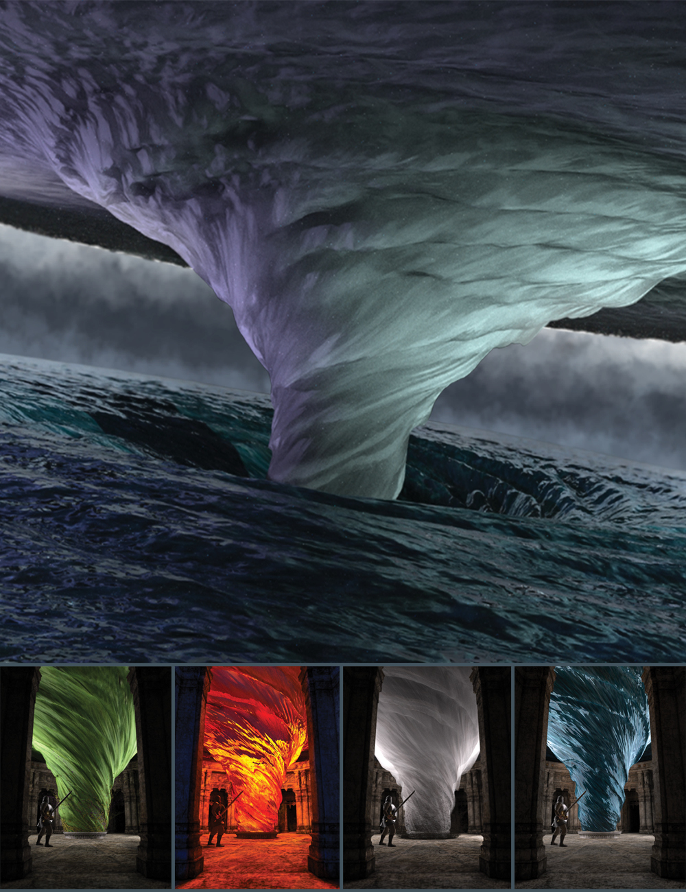 Tornado of the Four Elements by: Marshian, 3D Models by Daz 3D