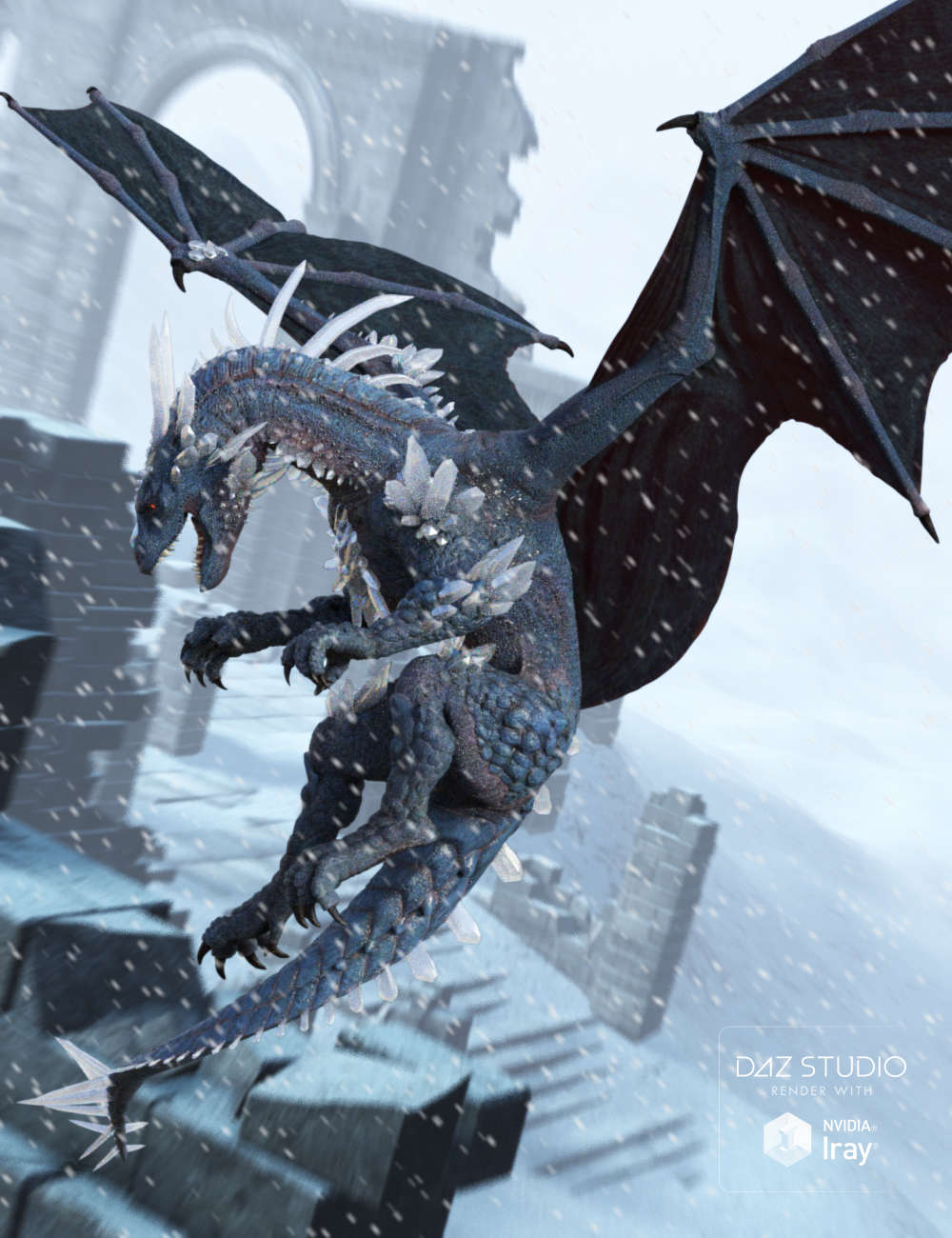 Crystal Storm Poses for Daz Dragon 3 by: Muscleman, 3D Models by Daz 3D