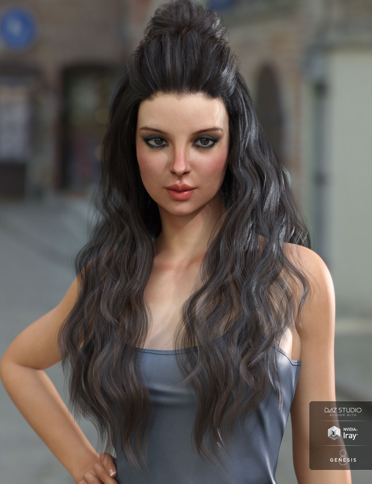 Ulani Hair for Genesis 3 & 8 Female(s) by: AprilYSH, 3D Models by Daz 3D