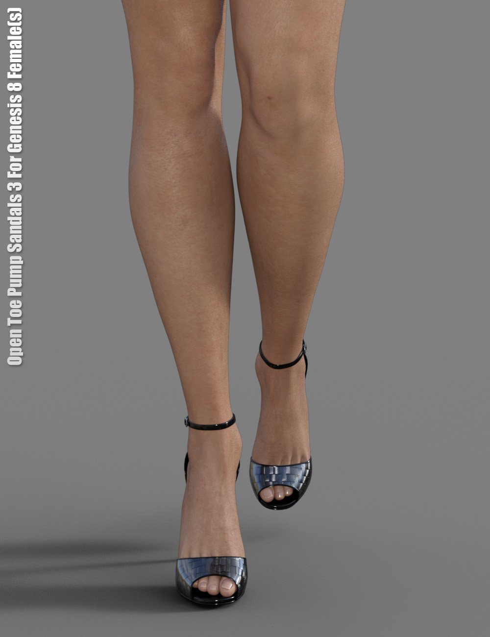 Open Toe Pump Sandals 3 for Genesis 8 Female(s) by: dx30, 3D Models by Daz 3D