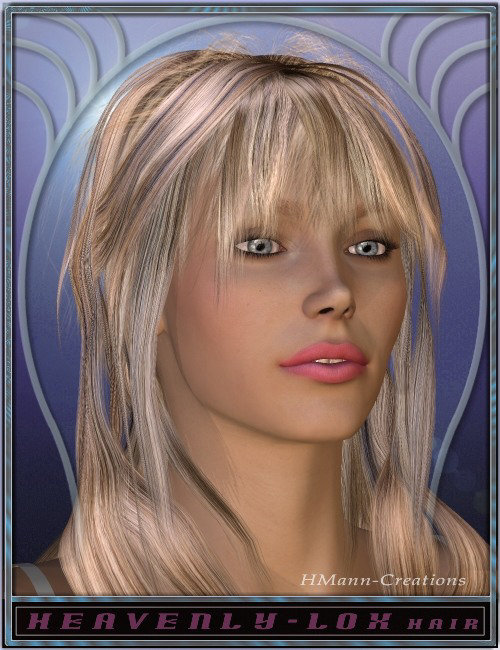 Heavenly Lox Hair by: Magix 101, 3D Models by Daz 3D