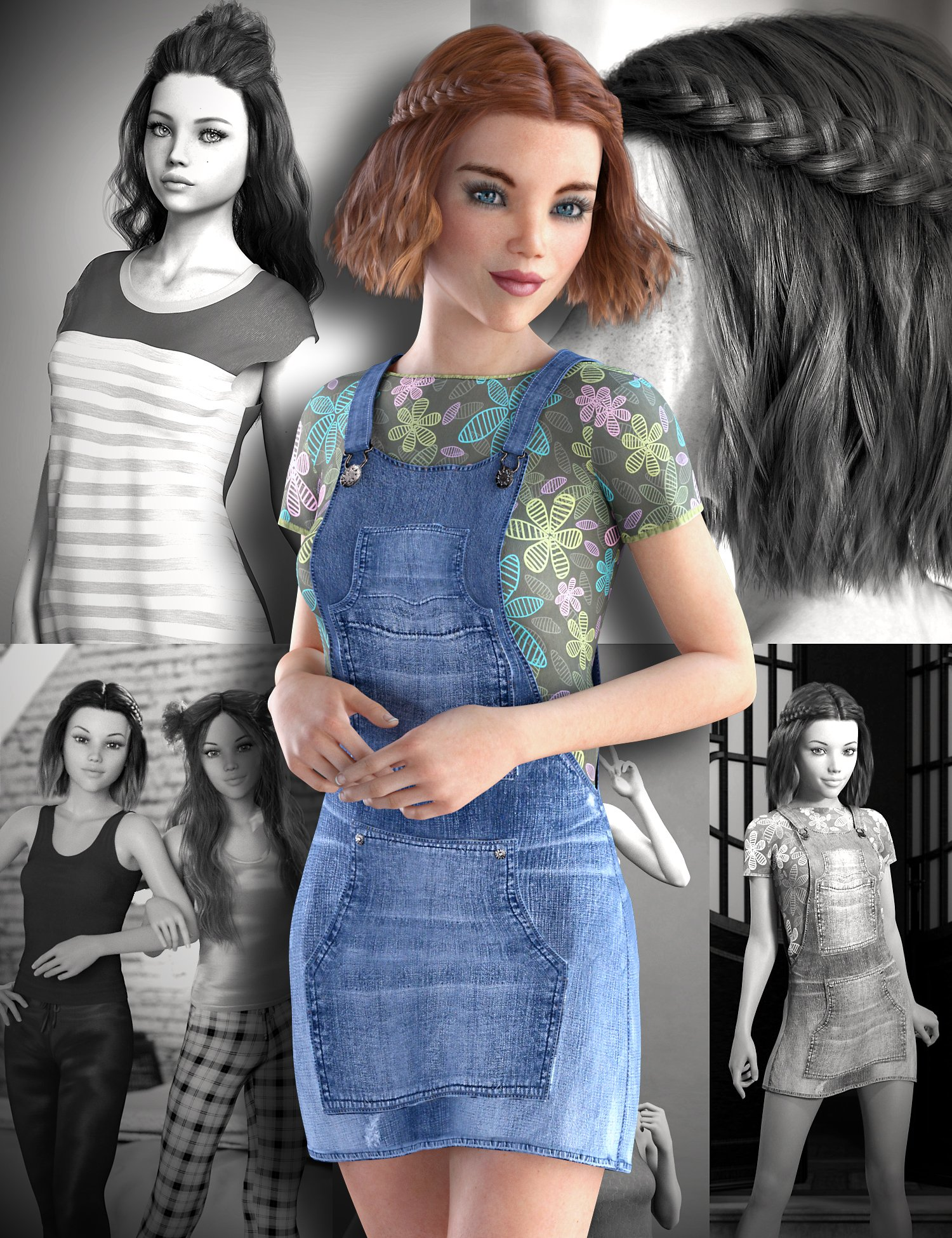 Teen Josie 8 Starter Bundle by: , 3D Models by Daz 3D