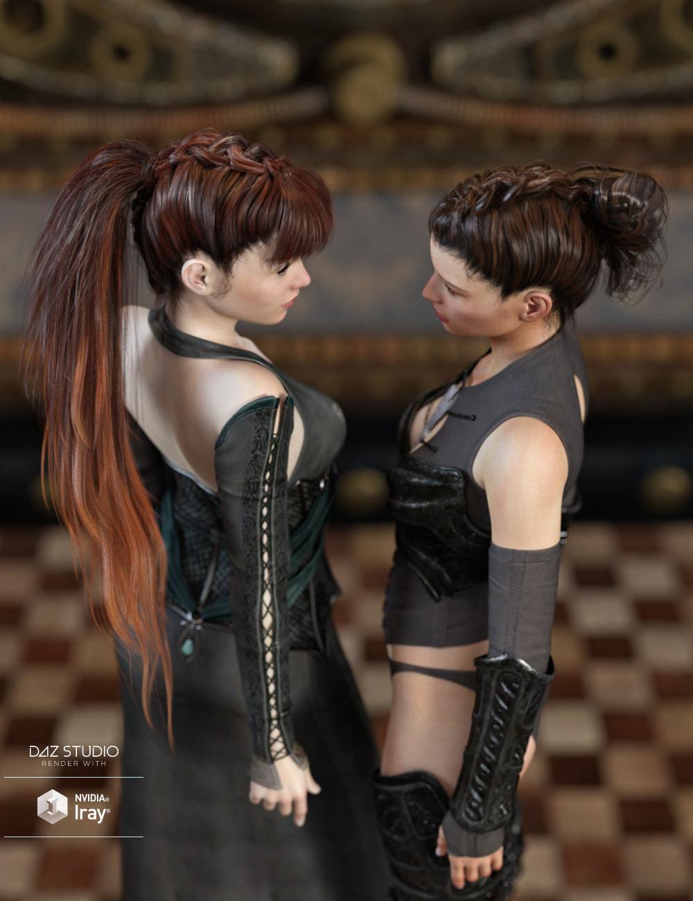 Devil May Deluxe Hair for Genesis 2,3 & 8 Female(s) by: goldtassel, 3D Models by Daz 3D