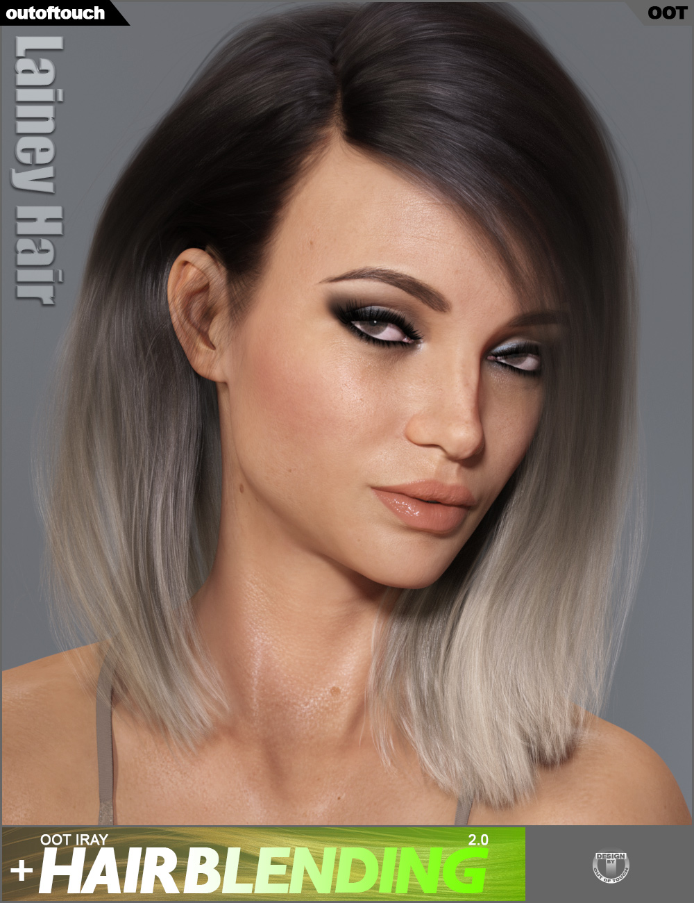 Lainey Hair for Genesis 3 Female(s) and Genesis 8 Female(s) by: outoftouch, 3D Models by Daz 3D