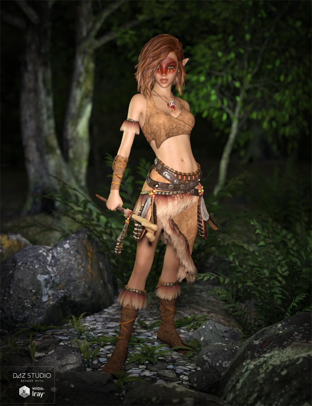 Ktarya Outfit for Genesis 3 Female(s) and Genesis 8 Female(s) by: SloshWerks, 3D Models by Daz 3D