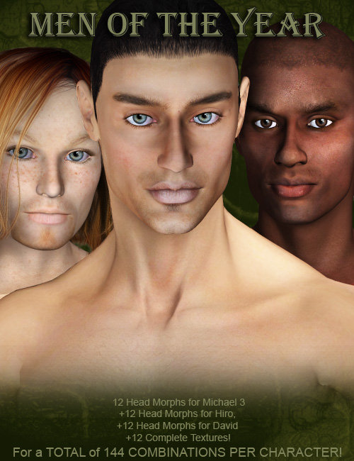 Men of the Year by: mutedbanshee, 3D Models by Daz 3D