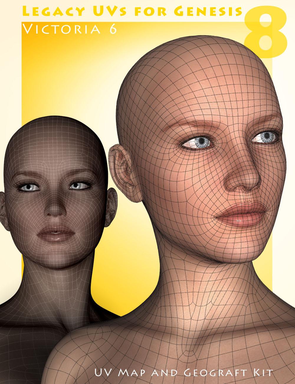 Legacy UVs for Genesis 8: Victoria 6 by: Cayman Studios, 3D Models by Daz 3D