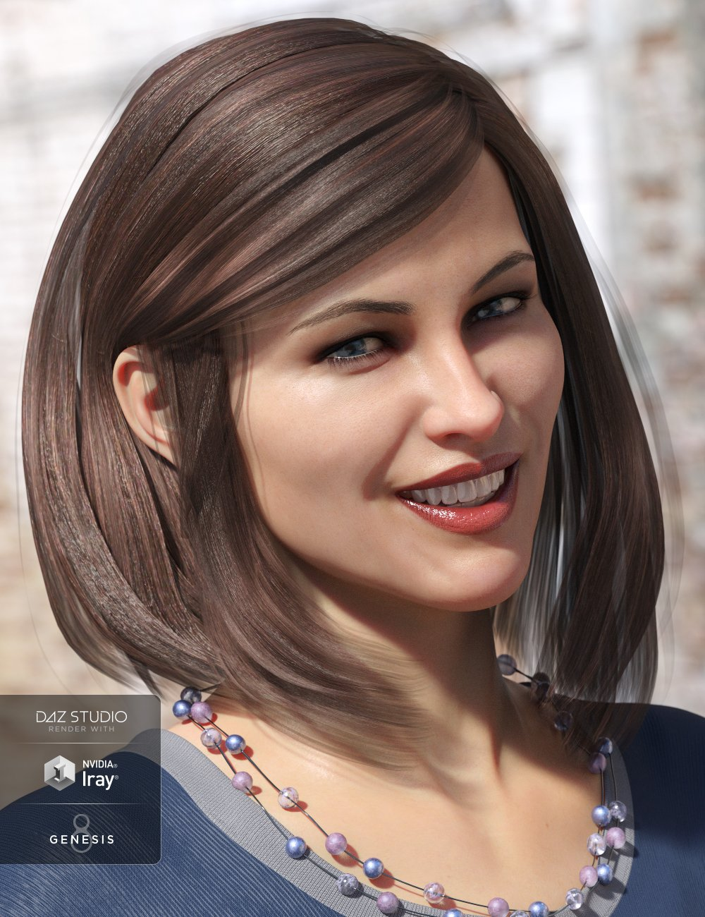 Sassy Bob Hair for Genesis 8 Female(s) by: Propschick, 3D Models by Daz 3D