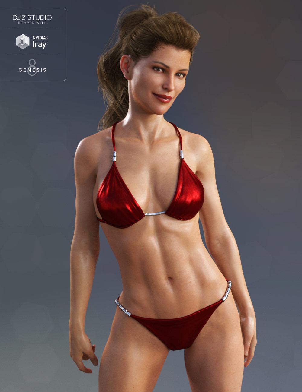 Classic Bikini for Genesis 8 Female(s) by: Anna BenjaminMada, 3D Models by Daz 3D