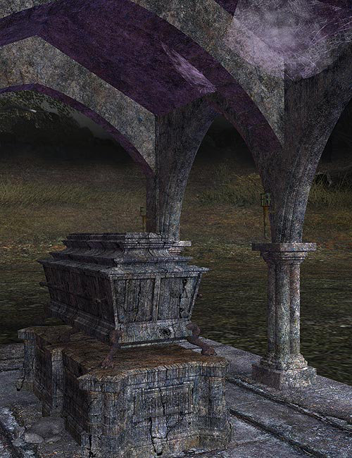 Creepy Tomb by: IsauraS, 3D Models by Daz 3D
