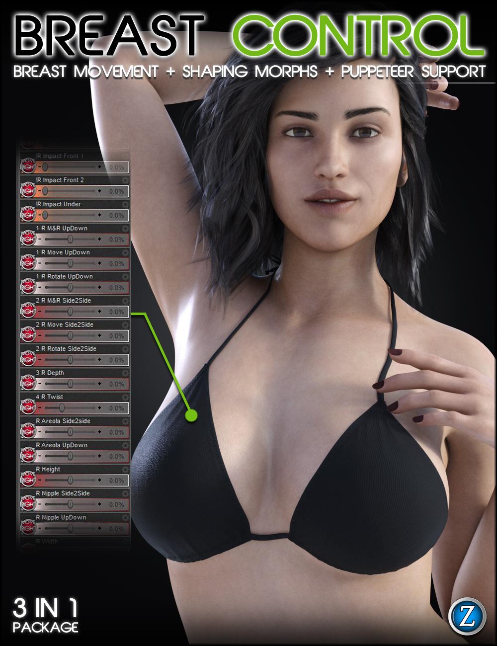 Breast Control Genesis 8 Female(s) by: Zev0, 3D Models by Daz 3D