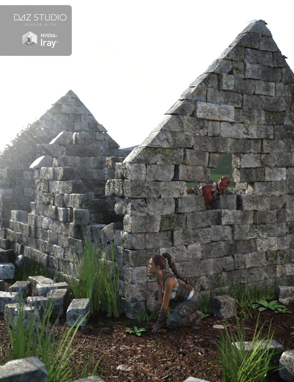 Ruined Cottage by: Merlin Studios, 3D Models by Daz 3D