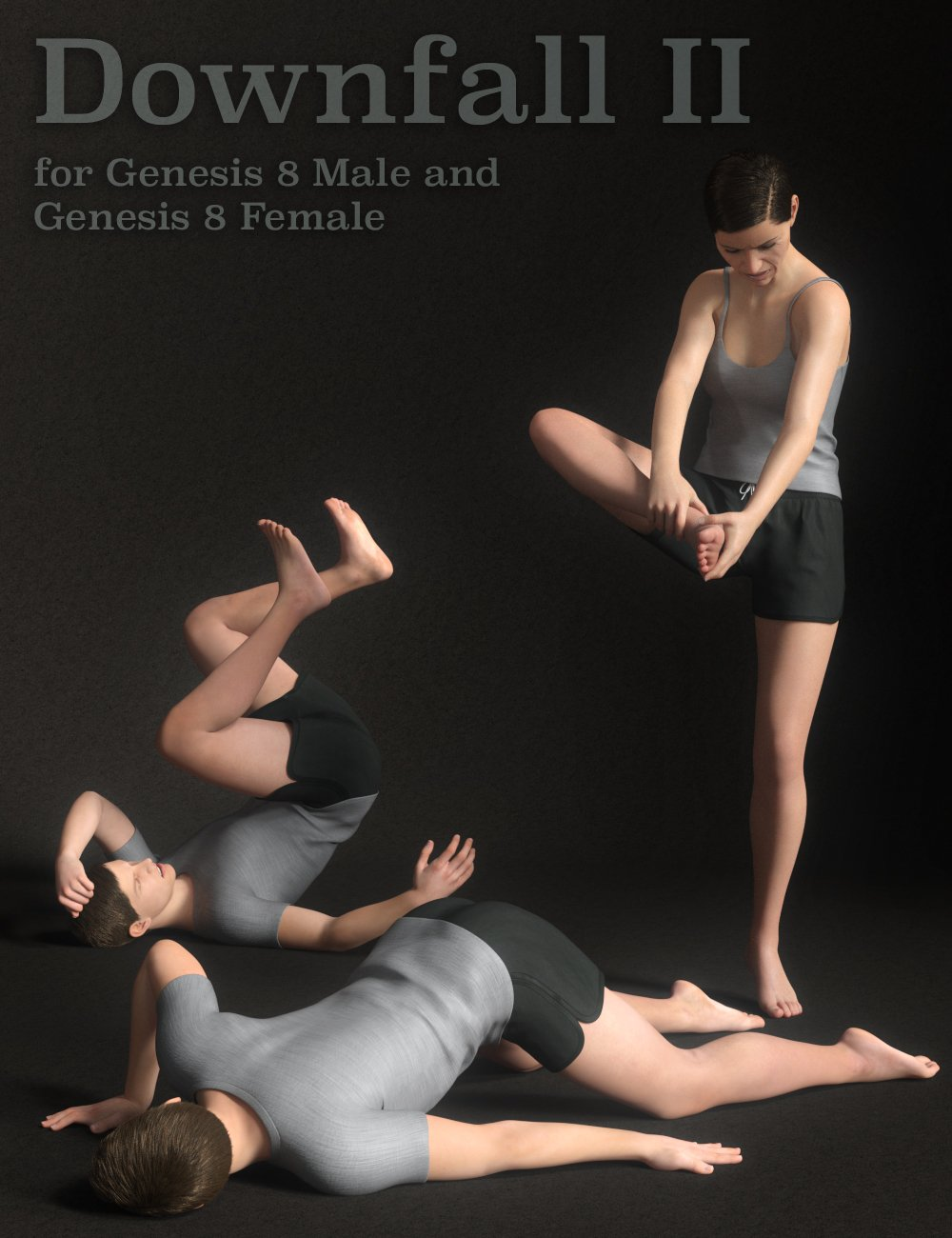 Downfall II for Genesis 8 Male(s) and Female(s) by: Quixotry, 3D Models by Daz 3D