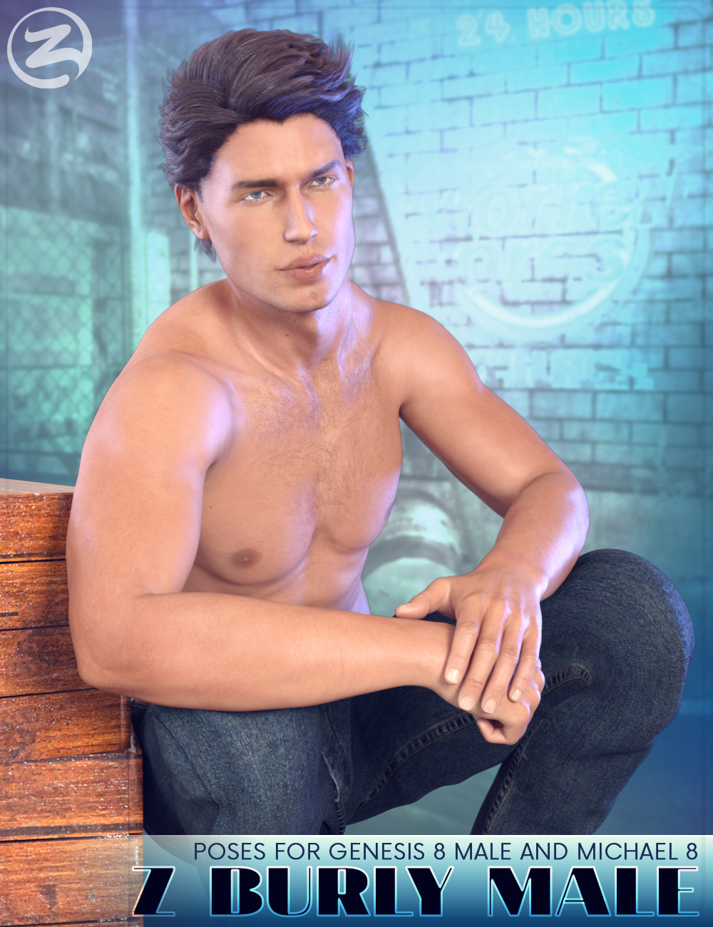 Z Burly Male - Poses for Genesis 8 Male and Michael 8 by: Zeddicuss, 3D Models by Daz 3D