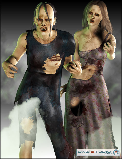 Undead for Stephanie 3 & David by: mutedbansheeARTCollab, 3D Models by Daz 3D