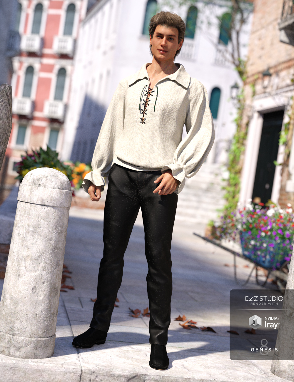 Contemporary Romeo Outfit for Genesis 8 Male(s) by: Anna BenjaminMada, 3D Models by Daz 3D