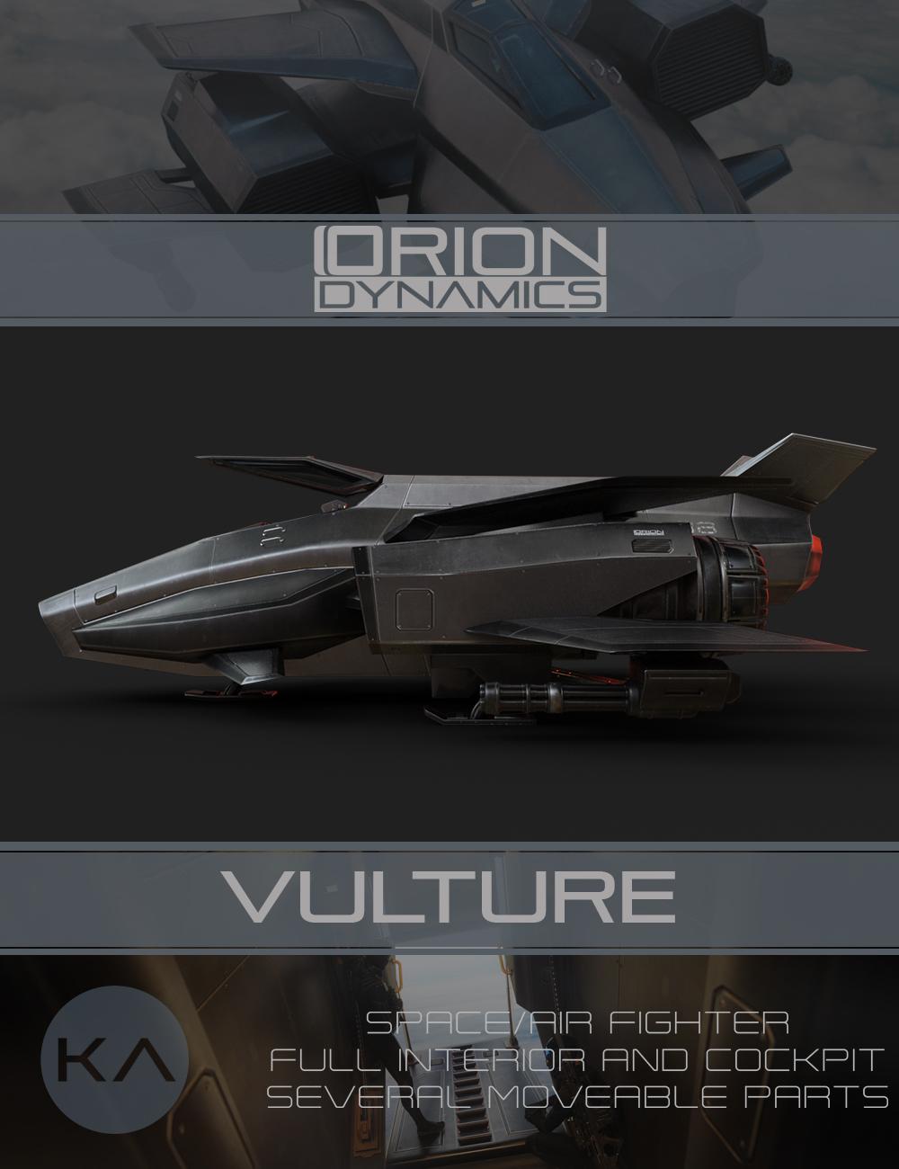 Orion Dynamics: Vulture by: KindredArts, 3D Models by Daz 3D