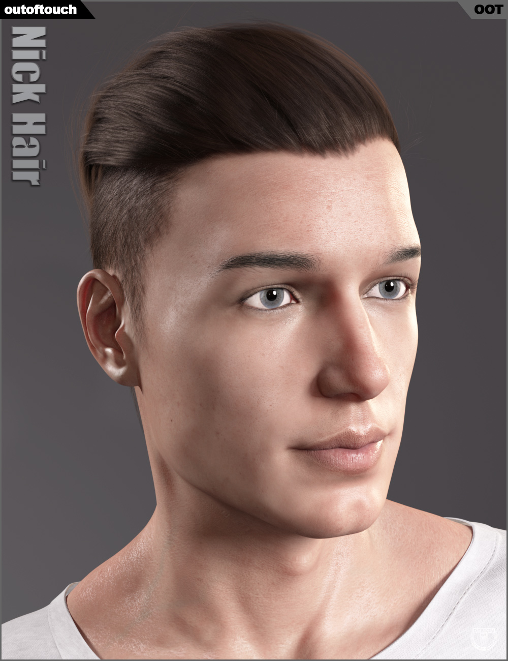 Nick Hair for Genesis 3 and 8 by: outoftouch, 3D Models by Daz 3D