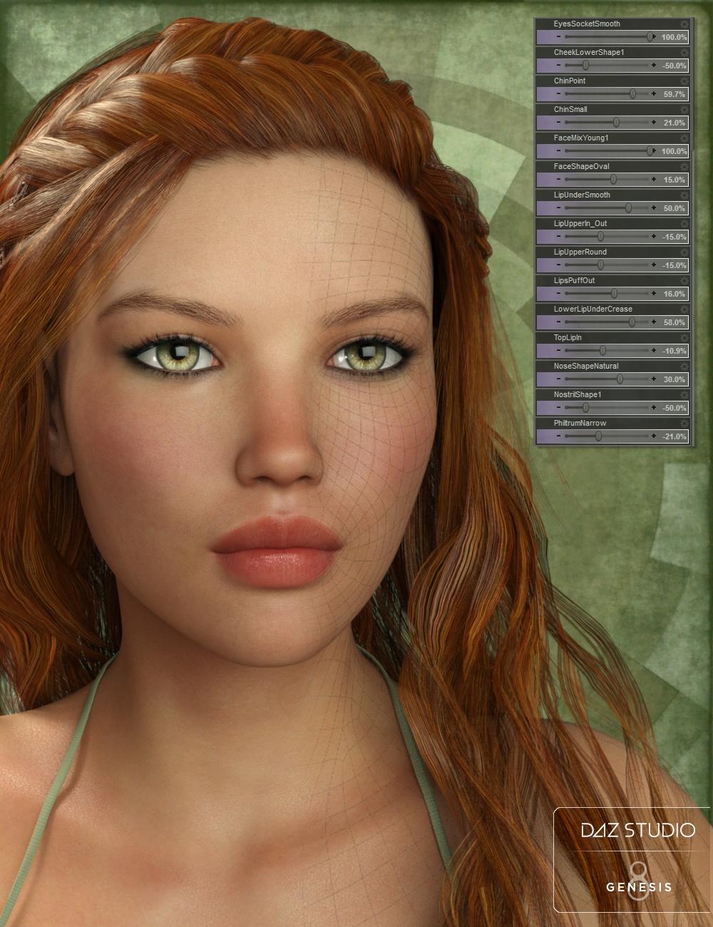 Genesis 8 Female Head Morph Resource Kit by: Handspan StudiosThorne, 3D Models by Daz 3D