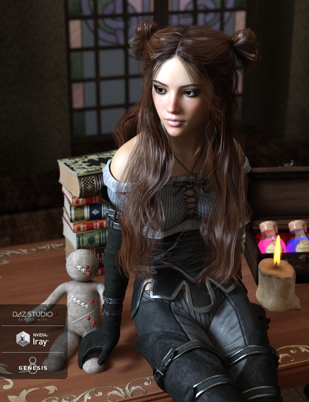 Happenstance Hair for Genesis 8 Female(s) by: goldtassel, 3D Models by Daz 3D