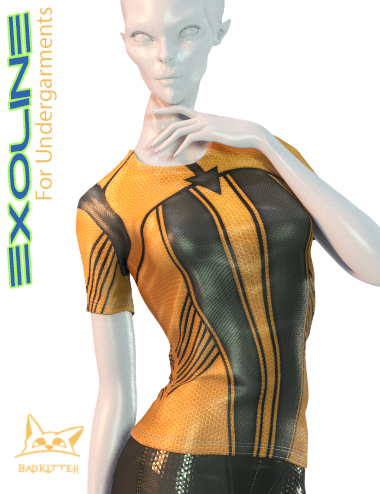 Exoline Undergarments for Genesis 8 Female(s) by: BadKitteh Co, 3D Models by Daz 3D