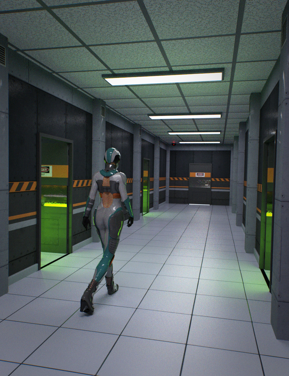 Containment Hallway by: , 3D Models by Daz 3D