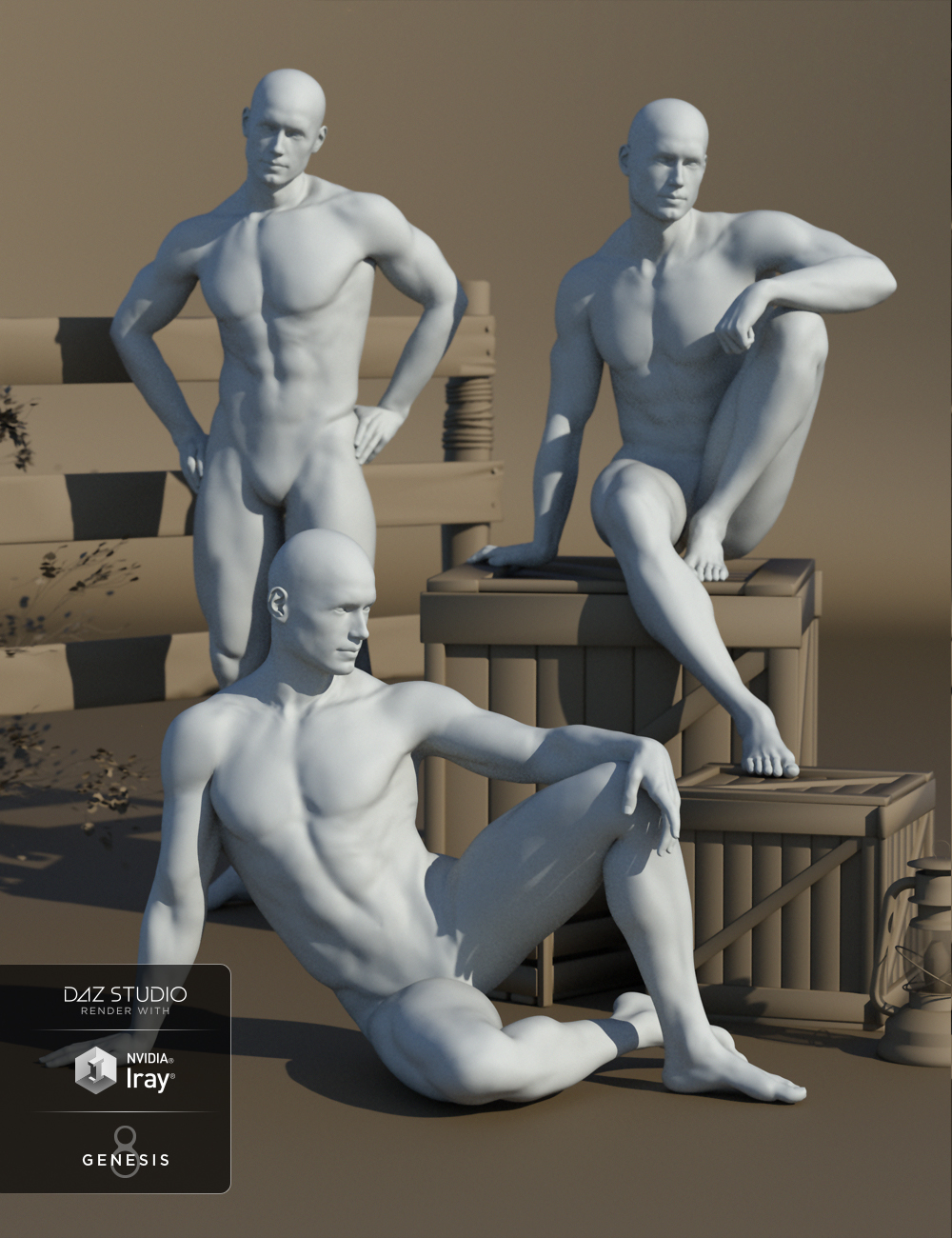 Stallion Poses for Genesis 8 Male and Michael 8 by: Faber Inc, 3D Models by Daz 3D
