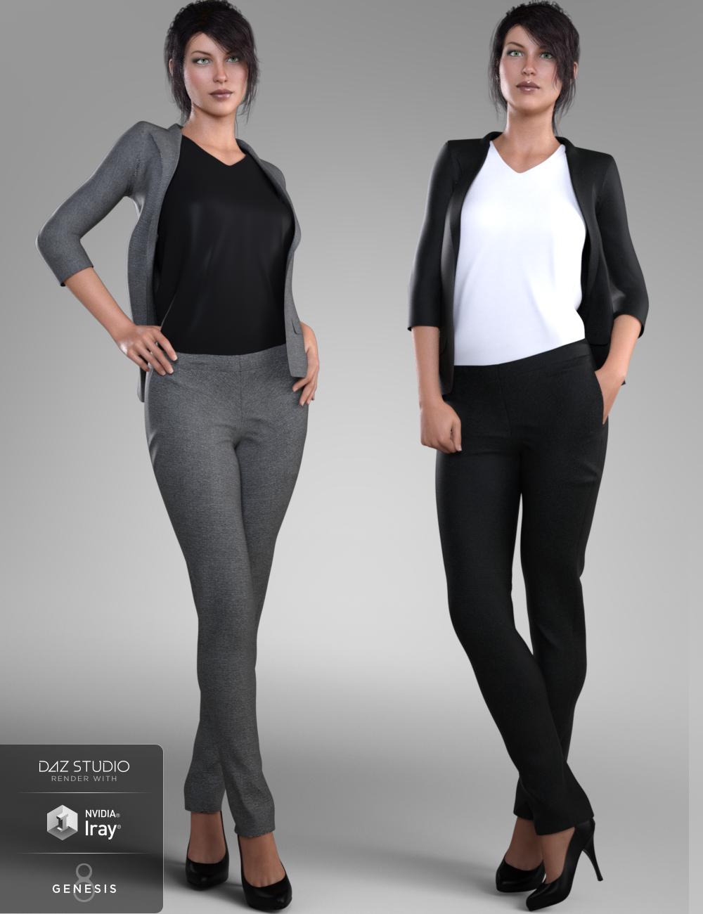 Stylish Workwear for Genesis 8 Female(s) by: Nikisatez, 3D Models by Daz 3D