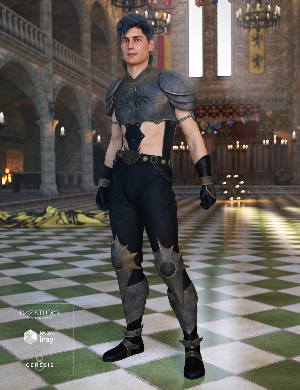 Dark Prince Outfit for Genesis 8 Male(s) by: NikisatezAnna Benjamin, 3D Models by Daz 3D