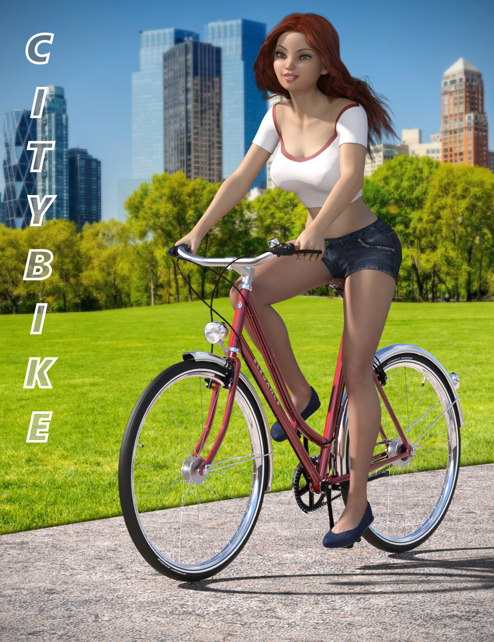 City Bike and Poses by: Eagle99, 3D Models by Daz 3D