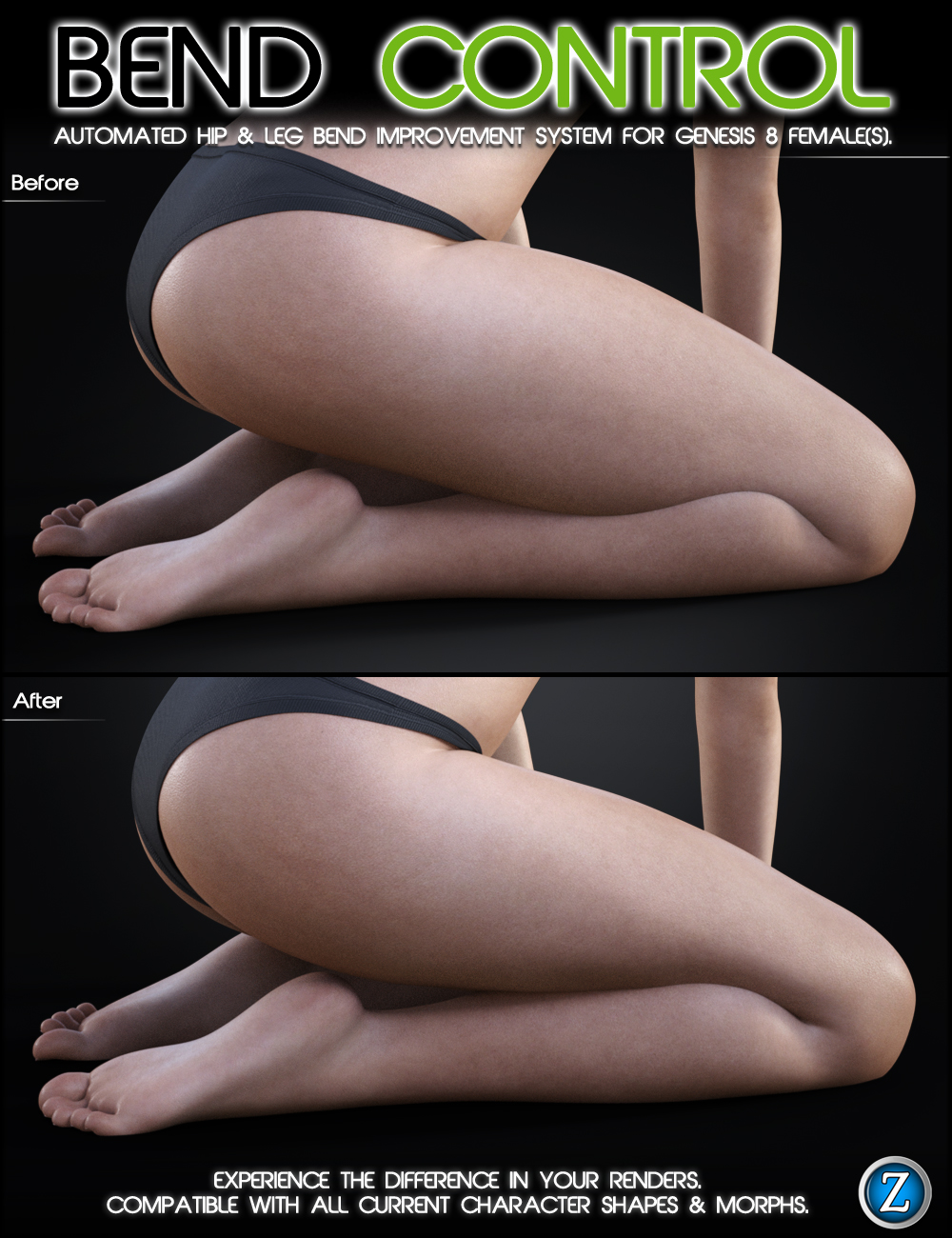 Bend Control for Genesis 8 Female(s) by: Zev0, 3D Models by Daz 3D