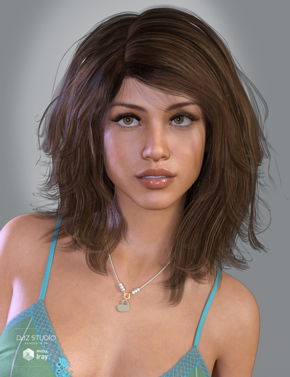 Olive Hair for Genesis 3 and 8 Female(s) by: SWAM, 3D Models by Daz 3D