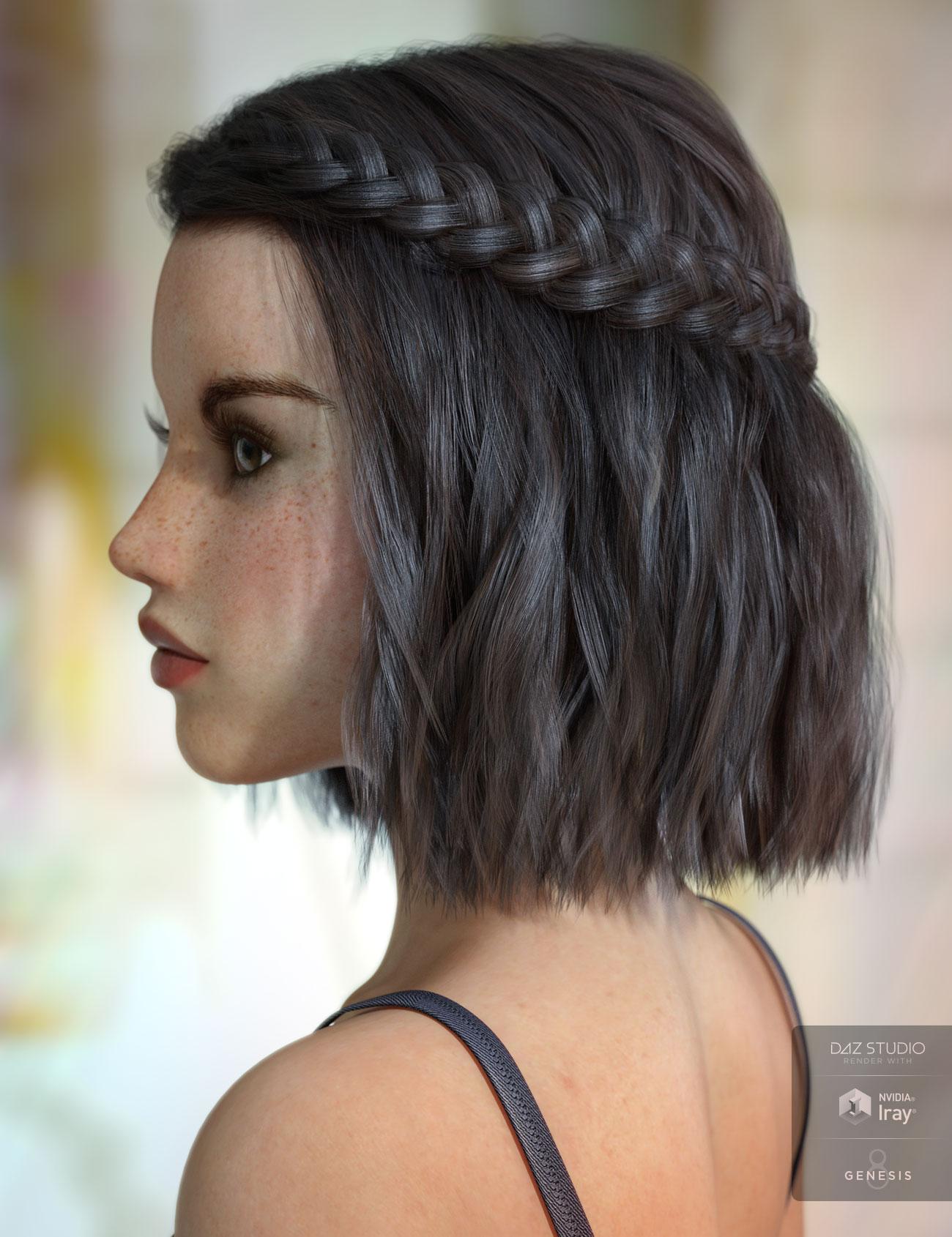 Jocelyn Hair for Genesis 3 & 8 Female(s) by: AprilYSH, 3D Models by Daz 3D