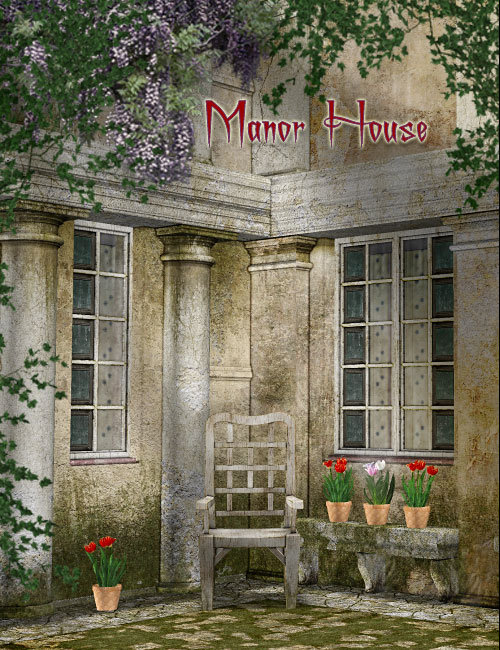 Manor House by: , 3D Models by Daz 3D