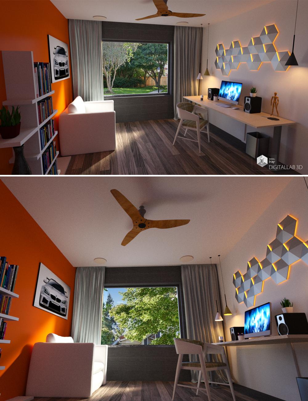 Home Office by: Digitallab3D, 3D Models by Daz 3D