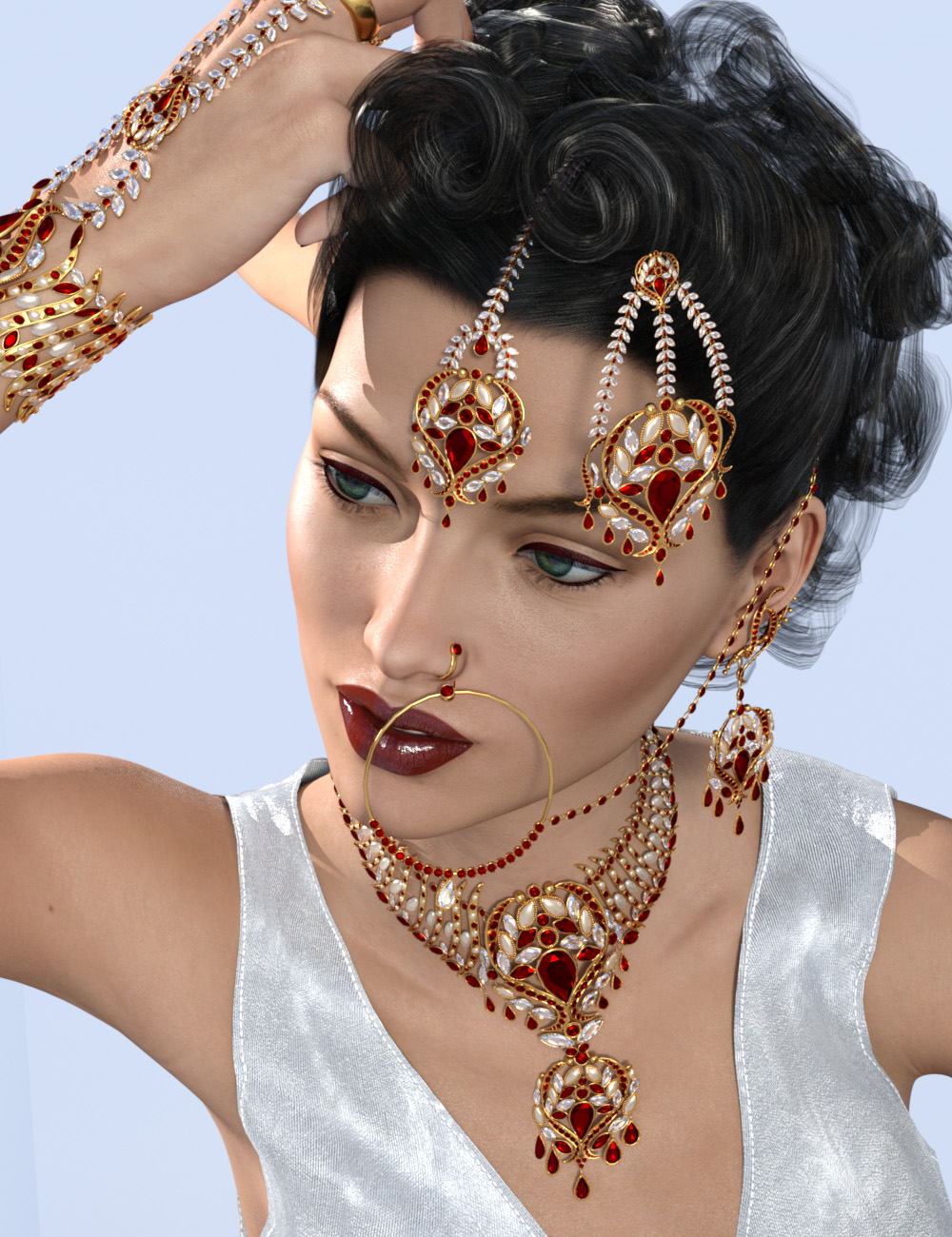 Indian Jewels for Genesis 3 and 8 Female(s) by: Sshodan, 3D Models by Daz 3D