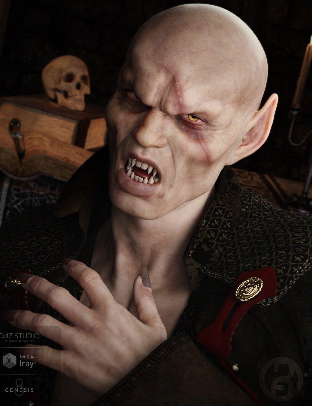Vampyre for Genesis 8 Male(s) by: RawArt, 3D Models by Daz 3D