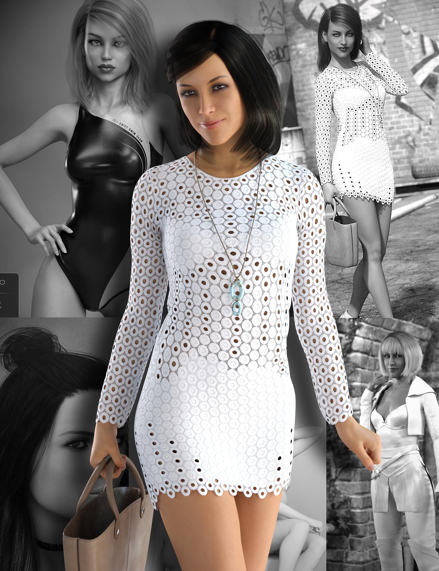 Stephanie 8 Starter Bundle by: , 3D Models by Daz 3D