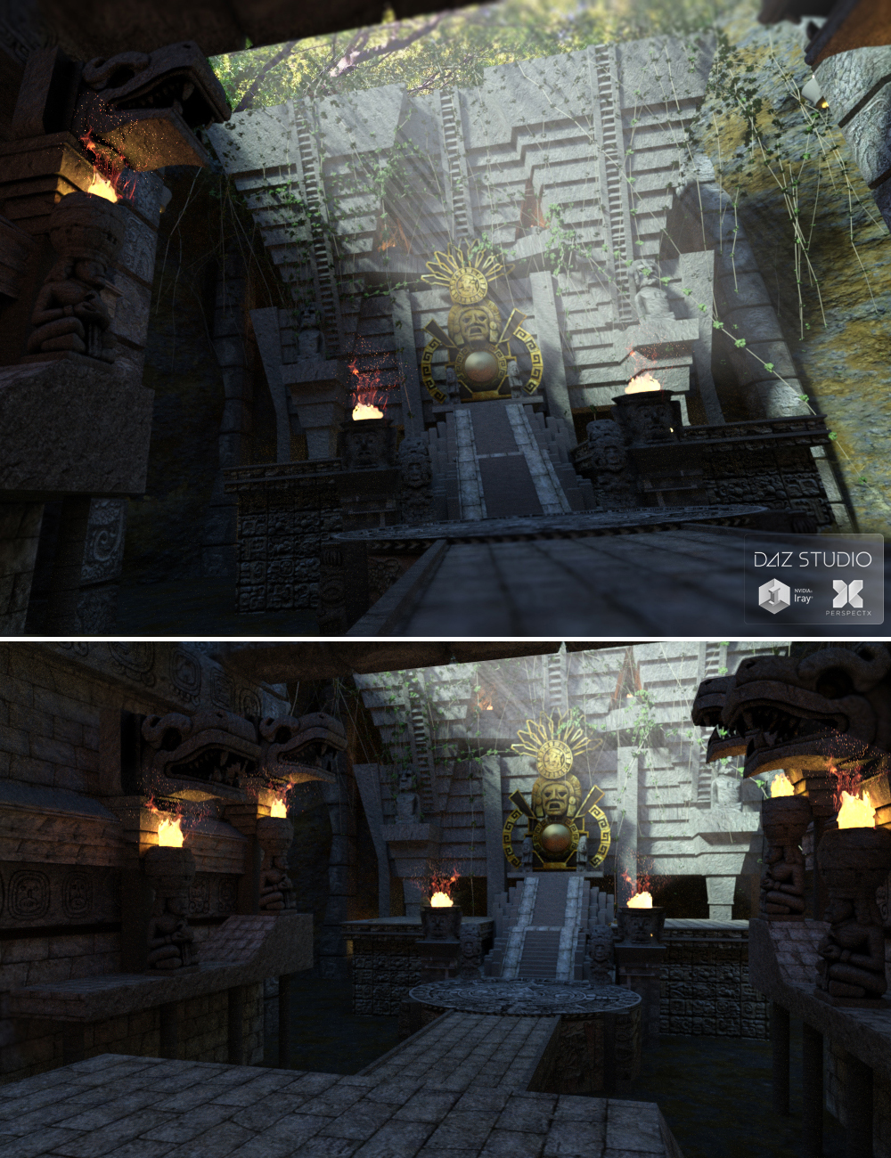 Mayan Temple by: PerspectX, 3D Models by Daz 3D