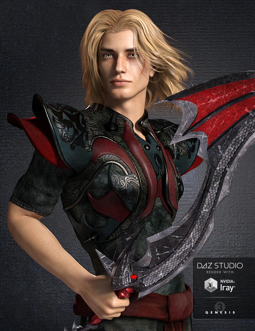 Lukas for Genesis 3 Male by: Vyusur, 3D Models by Daz 3D