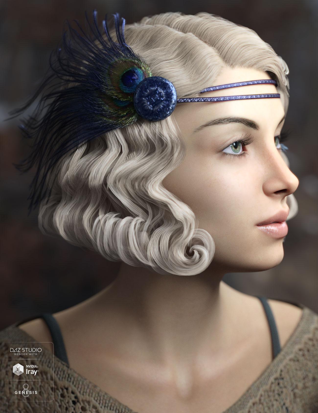 Zarah Hair for Genesis 3 & 8 Female(s) by: AprilYSH, 3D Models by Daz 3D
