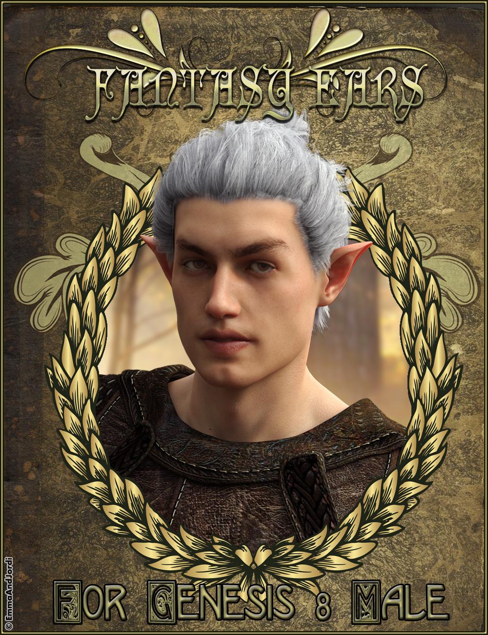 EJ Fantasy Ears for Genesis 8 Male by: EmmaAndJordi, 3D Models by Daz 3D