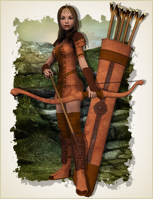 Elora for Elven Knight A3 by: , 3D Models by Daz 3D