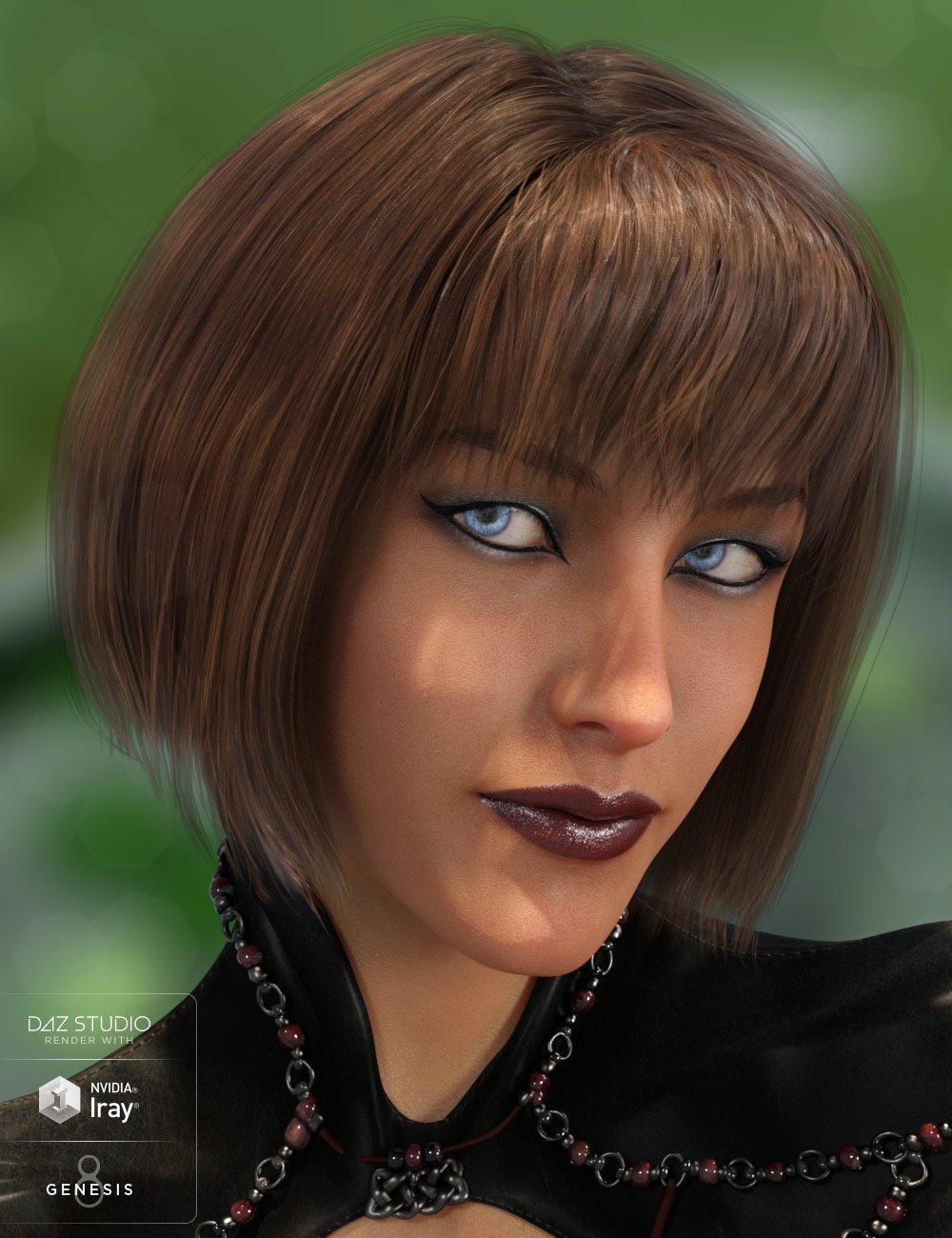 Swizzle Bob Hair for Genesis 8 Female(s) by: goldtassel, 3D Models by Daz 3D