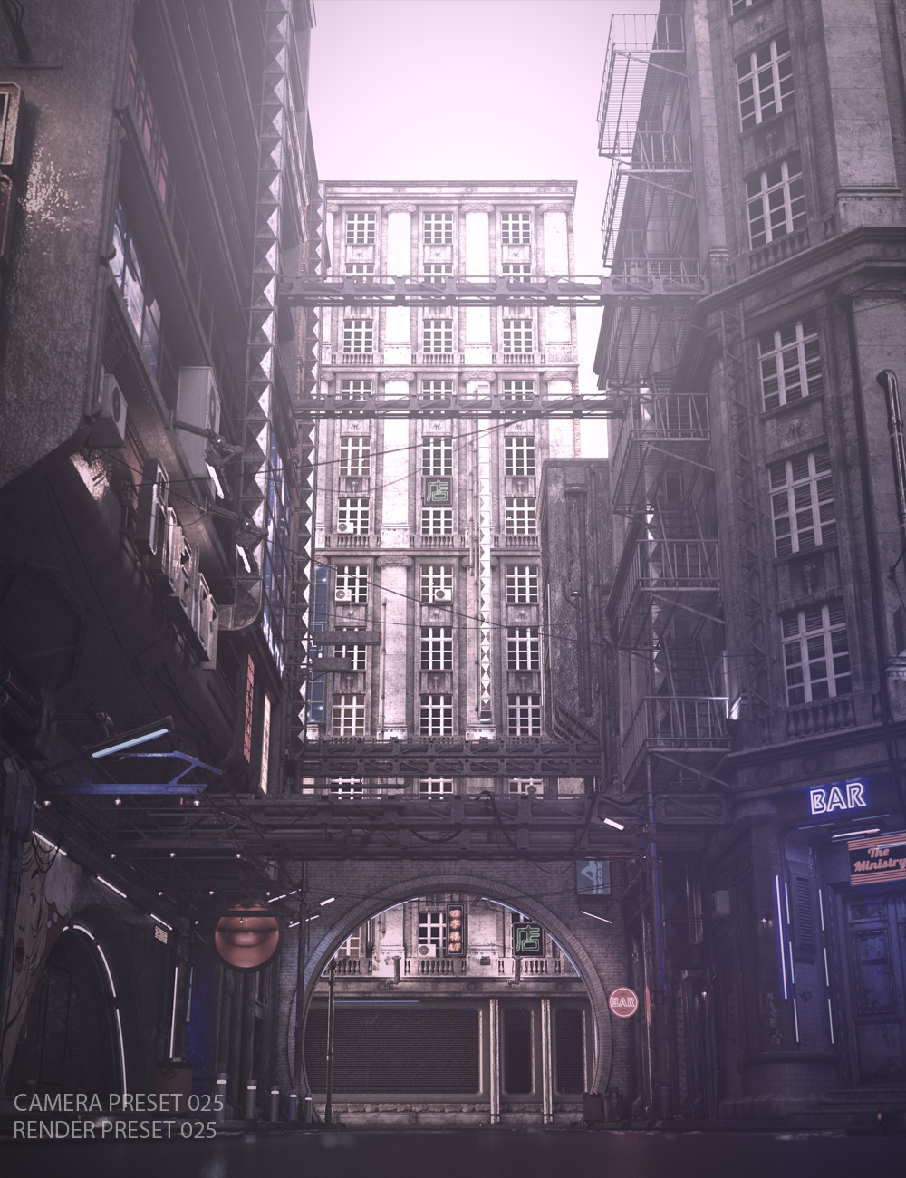 Lights and Cameras for Urban Future 5 by: Stonemason, 3D Models by Daz 3D